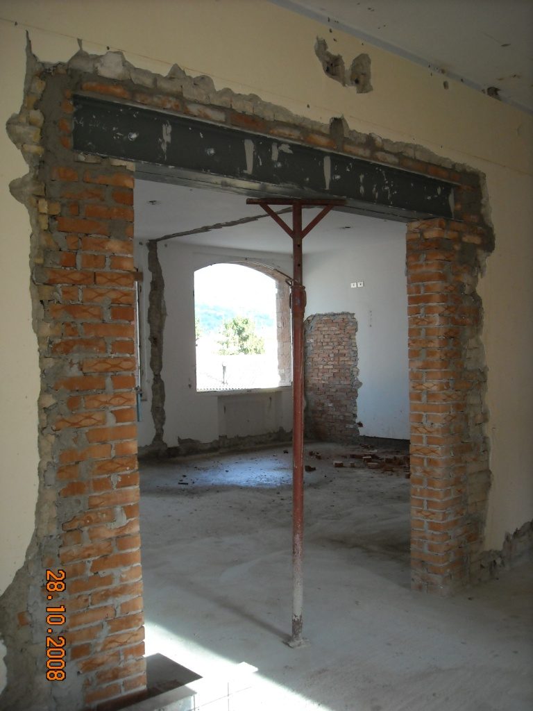 Ingforum leggi argomento profilati per architrave - Aprire una porta in un muro non portante ...